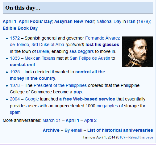 #100happydays Day 51: #DidYouKnow that Wikipedia is also funny today?